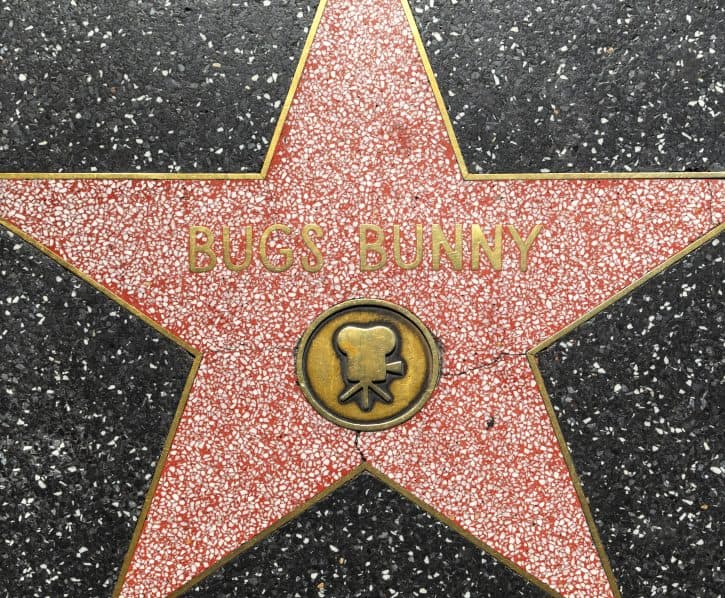 Bugs Bunny star in Hollywood