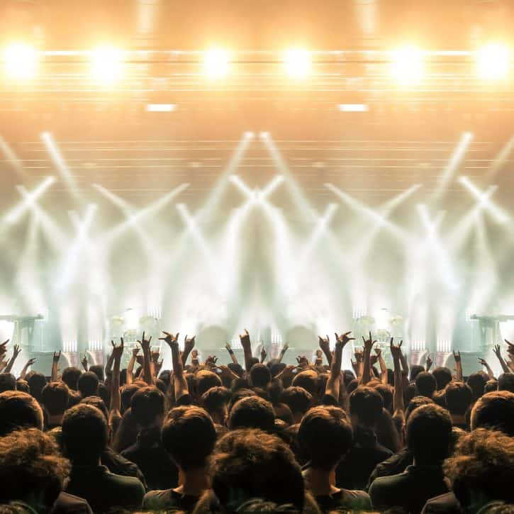 Concert with crowd