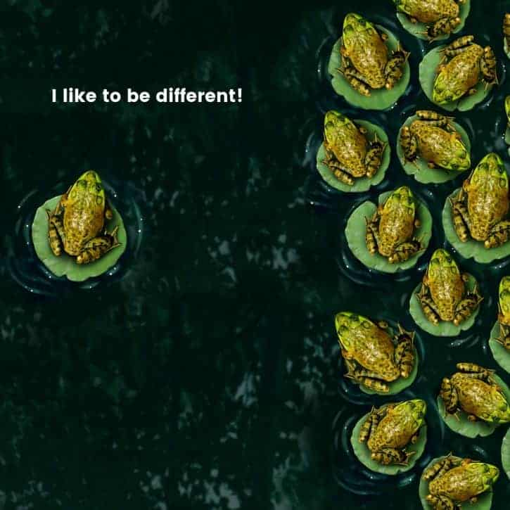 I like to be different!